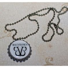 White with Black BVB Black Veil Brides bottlecap necklace - other BVB... ($6) ❤ liked on Polyvore