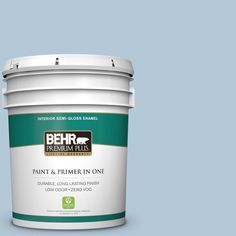 BEHR Premium Plus 5 gal. #hdc-CT-16A English Hollyhock Zero VOC Semi-Gloss Enamel Interior Paint