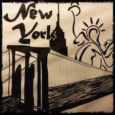 New York City  #nyc #newyorkcity #brooklynbridge #statueofliberty
