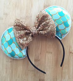 Ariel Ears Mermaid mouse ears Ariel Mouse Ears by HappilyEarAfter