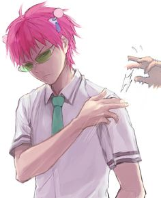 """This is based off an anime called """"The Disastrous Life of Saiki K"""" where an all powerful psychic tries to live a quiet and peaceful life in high school. Cute Anime Guys, All Anime, Manga Anime, Anime Art, Anime Boys, Fanarts Anime, Anime Characters, Psi Nan, Chibi"""