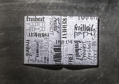 HAND-GUT / hand lettering book by Hannah Rabenstein, via Behance