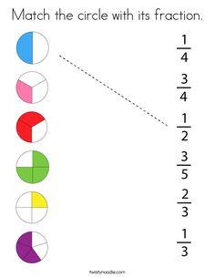 Math Fractions Worksheets, First Grade Math Worksheets, Free Math Worksheets, Math Classroom, Kindergarten Math, Teaching Math, Math For Kids, Fun Math, Math Tutorials