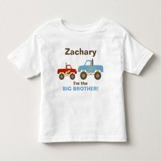 Monster Truck Big Brother Toddler T-shirt - your brother deserves one - get now!