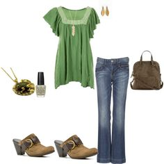 My Spring green outfit
