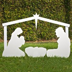 Silhouette Outdoor Christmas Nativity Scene - Holy Family Set - Listing price: $125.00 Now: $112.00