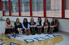 Tri Delta members visiting St. Jude