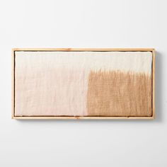 This wall art gets its distinctive fuzzy texture from felted wool, which is dyed and stretched across a wood frame. A soft wash of color, variations in pattern mean that each piece is subtly one-of-a-kind. Mirror Wall Art, Hanging Wall Art, Home Wall Art, Home Art, Wall Art Decor, Wall Hangings, Framed Art, Mirrors, Room Decor
