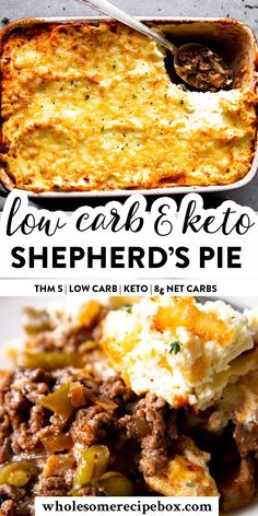 I've got all the secrets to the best low carb Shepherd's Pie! With a creamy, tall topping and the best filling, this has only Net Carbs per generous serving. Healthy Low Carb Dinners, Trim Healthy Recipes, Low Calorie Recipes, Low Carb Keto, Low Carb Recipes, Easy Meals, Cooking Recipes, Best Low Carb Meals, Irish Recipes