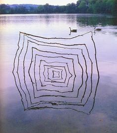 Andy Goldsworthy. I really enjoy the product of the relfection how it creates a different object than what the actual solid art is. I like his work, its very creative and had never seen like the sort.
