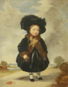 Queen Victoria, aged 4  By William Bright Morris  Oil on canvas, 1890 - 1904
