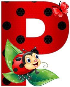 Cute Alphabet, Alphabet Art, Lady Bug, Disney Decals, Clip Art Pictures, School Posters, Painted Pumpkins, Cartoon Pics, Painting For Kids
