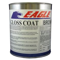 Eagle 1 gal. Gloss Coat Brown Tinted Semi-Transparent Wet Look Solvent-Based Acrylic Exposed Aggregate Concrete Sealer, Brown Tint