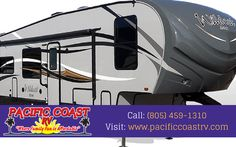 Huge selection of campers for sale  At Pacific Coast RV we stock many outstanding brands of Toy Hauler For Sale.  Visit our site for the lowest prices on 5th wheels that your family will love. Call: (805) 459-1310