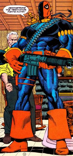 comicbookvault:  DEATHSTROKE, THE TERMINATOR #10 (May 1992)Art by Art Nichols (pencils), George Perez (inks) & Tom McCraw (colors)Words By Marv Wolfman
