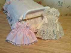 dress in smock, and dress with antique lace  www.pilarcalle.es