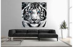 Tableau contemporain tigre blanc.Un tableau envoutant pour décorer les murs de votre intérieur