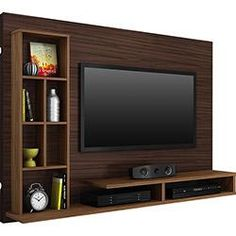 Living room tv wall modern design media consoles 32 ideas for 2019 Tv Unit Interior Design, Tv Unit Design, Tv Wall Design, Tv Unit Decor, Tv Wall Decor, Tv Wall Panel, Panel Lcd, Tv Shelving, Shelves