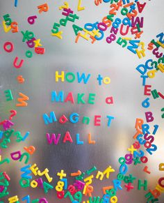 magnetic wall. A way to play without clutter on floor