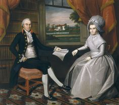 Ralph Earl, American, 1751-1801, Oliver Ellsworth and Abigail Wolcott Ellsworth, 1792, Oil on canvas, painting