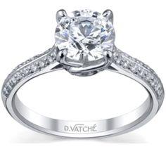 Vatche Engagement Rings, 'Sisley' Diamond Engagement Ring #195