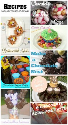 Festive and Eggstra-Special Easter Roundup - Crafty Mama in ME! Easter Activities For Kids, Printable Activities For Kids, Easter Crafts For Kids, Easter Books, Easter Art, Easter Recipes, Holiday Recipes, Chocolate Easter Nests, Marshmallow Bunny