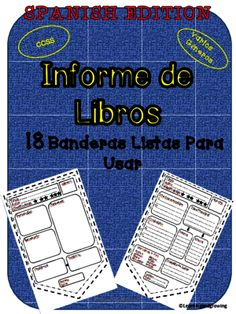 Banderas para Informe de Libros (Reading Response) Español from LearningandGrowing on TeachersNotebook.com -  (20 pages)  - Banderas para Informe de Libros (Reading Response) Español