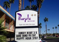Welcome to Comedy Night Palm Springs at Purple Room Restaurant and Stage...