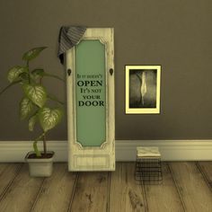 Leo Sims - Decorative Door for The Sims 4