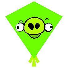 X Kites Angry Birds Nylon Diamond Kite Green Pig, 2015 Amazon Top Rated Kites #Toy