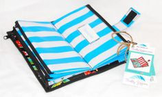 Cute Black Oilcloth Envelope System Wallet for by ThriftyZippers, $32.95