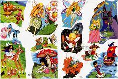 Vintage Paper Scraps Fairies