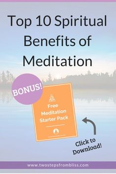 Top 10 Spiritual Benefits Of Meditation |Two Steps From Bliss | When we get in touch with our spirituality, everything else falls in alignment. Click to learn 10 spiritual benefits of meditation! #twostepsfrombliss #awakening #meditationbenefits Meditation For Health, Best Meditation, Meditation Benefits, Meditation For Beginners, Mindfulness Meditation, Spiritual Life, Spiritual Awakening, Stress Relief Tips, Learn To Meditate