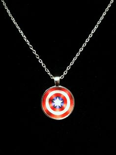 Captain America Shield Necklace or keychain by ThePaperPoppyStore. , via Etsy.