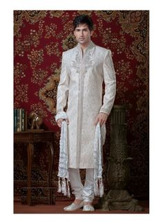 Bride Groom Indian Sherwani Model: YOSHV370