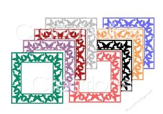 Butterfly Frame Cutting Files & JPGs- commercial use allowed - CUP715446_2105 | Craftsuprint