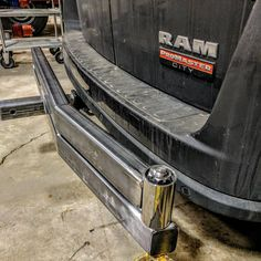 #promastercity receiver mount mini-bumper fabrication underway.  It will carry a spare wheel and other desired accessories on a four foot swing arm.  Light, tough and tidy, the perfect solution for this vehicle. #rampromaster #vanlife #campervan @mszkil