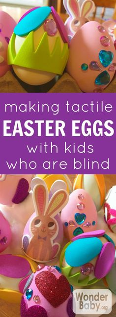 How to create accessible tactile Easter eggs with kids who are blind