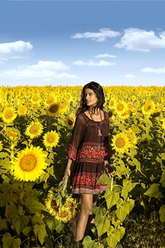 The New Fashion Frontier Senior Photography Poses, Photography Projects, Portrait Photography, Sunflower Photography, Sunflower Pictures, Sunflower Fields, Senior Girls, Picture Poses, Hippie Style