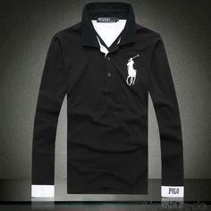 Discount Black Ralph Lauren Men Long Sleeve Polos LTRLLSPM0151 [$24.00]