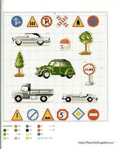 Sandylandya cars and signs cross stitch cards, cross stitch numbers, Small Cross Stitch, Cross Stitch For Kids, Cross Stitch Baby, Cross Stitch Designs, Cross Stitch Patterns, Cross Stitch Numbers, Cross Stitch Cards, Cross Stitching, Cross Stitch Embroidery