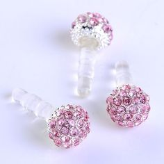 1pc 3.5mm Pink Crystal Disco Ball Ant... $0.01 #topseller