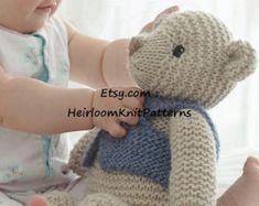 Toy Knitting Pattern Classic Teddy Bear in Chunky/ Bulky yarn Baby Teddybear Pattern Stuffed Soft Toy Pattern Instant Download PDF - 434