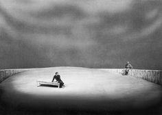 """"""" Tristan und Isolde """" 3.Aufzug 1952 Wieland Wagner Bühnenphoto"""