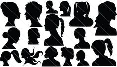 Face Silhouette Vector (16)
