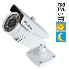 "1/3"" Sony Effio-E Color CCD 700TVL High Resolution IR Weatherproof CCTV Camera Security Surveillance, Sony, Color, Colour, Colors"