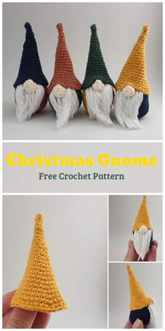 We are going to learn How to Crochet Christmas Mini Gnome Pattern. Quick to work up, these mini Gnomes can be hung from the tree or just littered around the home as cute Christmas decorations! You can mix up the colours, add some glitter, add some stitched decoration – whatever suits your mood.