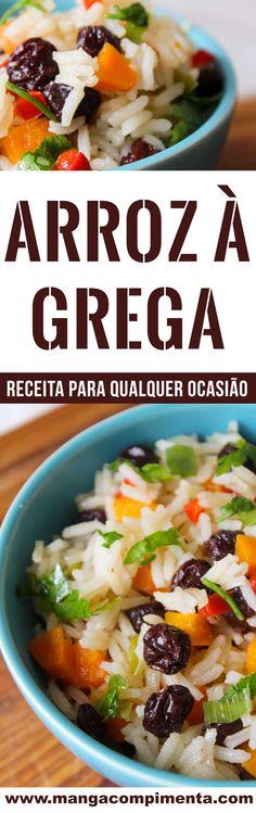 Receita de Arroz à Grega – um prato simples e delicioso o Ano Novo #receitas #anonovo #ceia #ceiadeanonovo