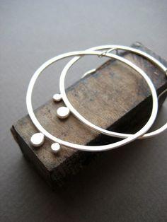 Big+Dot+Hoops+by+LaurenMarkleyJewelry+on+Etsy,+$68.00