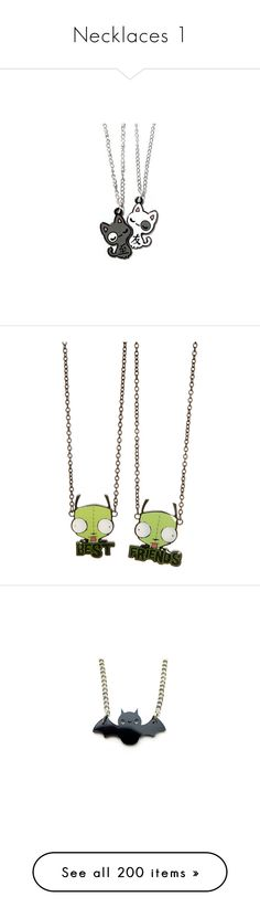 """""""Necklaces 1"""" by geeky-j ❤ liked on Polyvore featuring jewelry, necklaces, accessories, bunny rabbit jewelry, cat jewelry, bunny necklace, cat necklace, bunny rabbit necklace, gir and invader zim"""